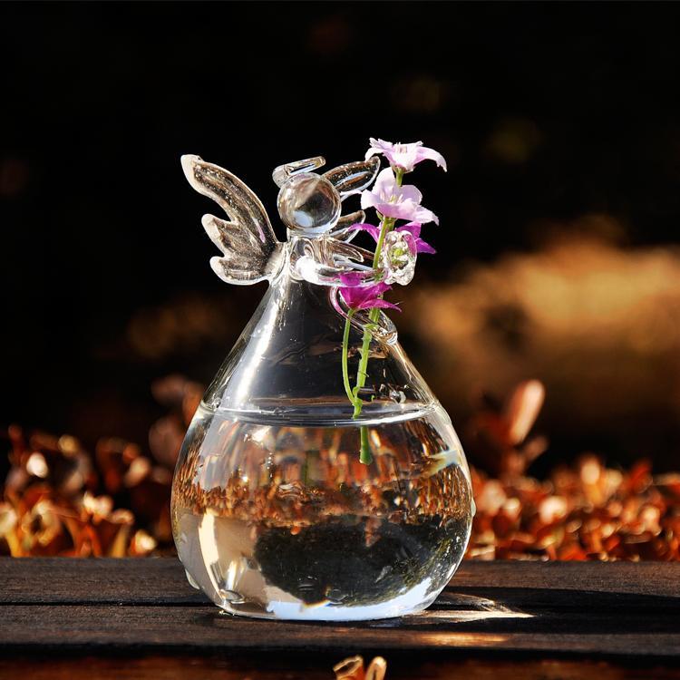 Angel Vase Transparent Crystal Glass Vases Flower Arranging