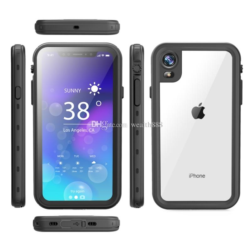 the latest 80103 c429a Swimming diving Life Waterproof Clear Case for iPhone XR XS Max X PC TPU  PET Transparent Full Body Cases Cover for Samsung Note 9