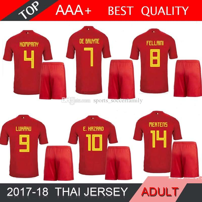 2019 2018 World Cup Belgium Soccer Jersey LUKAKU DE BRUYNE E.HAZARD Home  Red Football Shirts MEUNIER National Team Jerseys Mens SHIRT Short From ... d3e7800f5