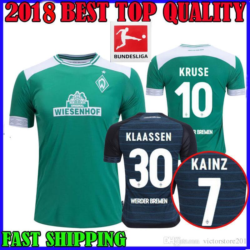 6f6d638a0efc ... the best attitude b2e35 2351b 18 19 Werder Bremen Soccer Jersey Home  KLAASSEN Away KRUSE 2018 ...