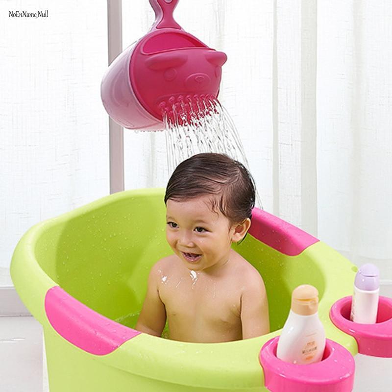 Cartoon Baby Bath Cap Kids Washing Hair Shampoo Cartoon Cup Children ...