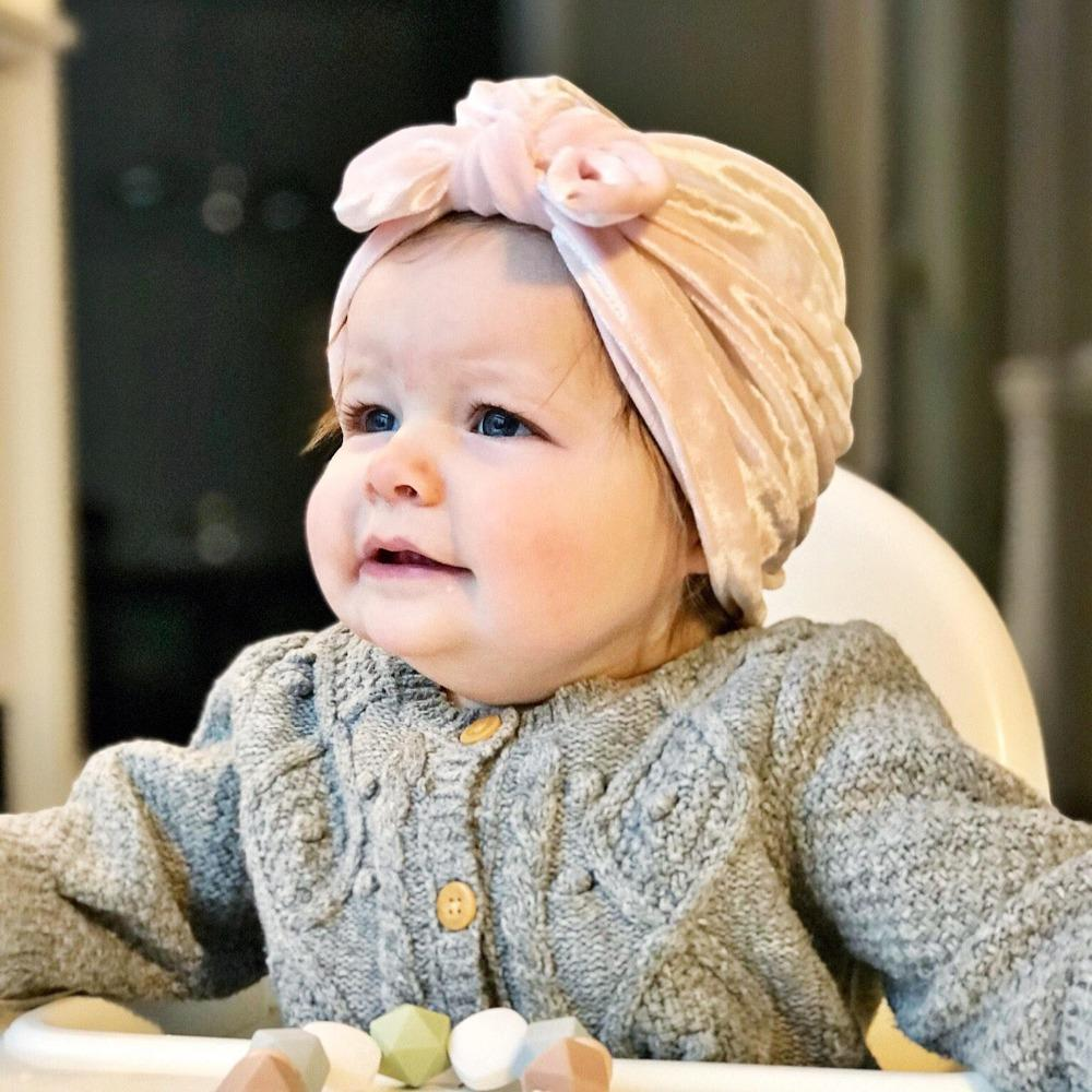 7bc350d816c 2019 Autumn And Winter New Children S Velvet Beanie Hat Baby Turban Rabbit  Ears Knotted Hats Boy Girl Cap From Yiquanwater