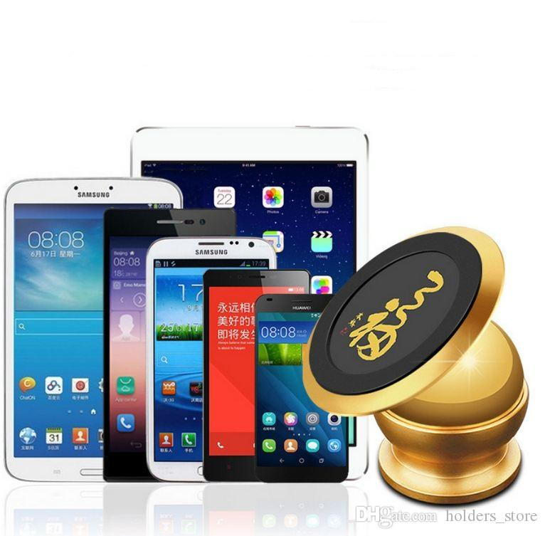 Soporte magnético universal para teléfono del coche Soporte para teléfono con soporte adhesivo para iPhone Samsung Huawei con caja al por menor