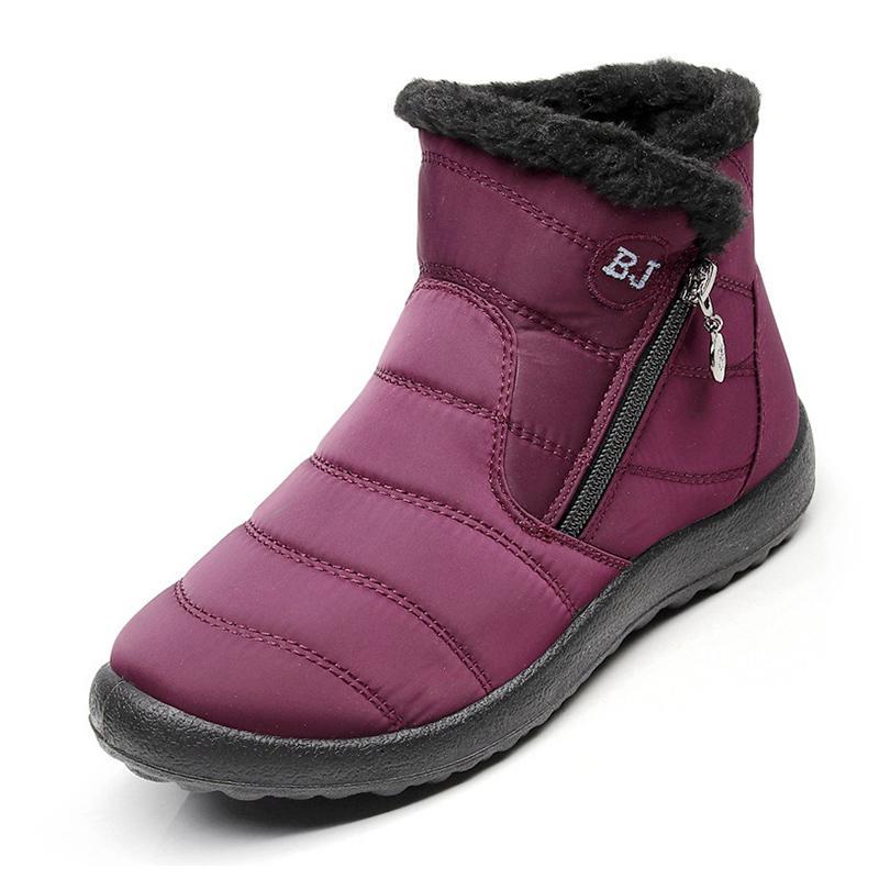 6633d0700a2 Compre Botas De Mujer 2018 Zapatos De Invierno Mujer Botas De Nieve Con  Felpa Botas Interior Mujer Impermeable Más Talla 43 Botas De Mujer De  Invierno A ...