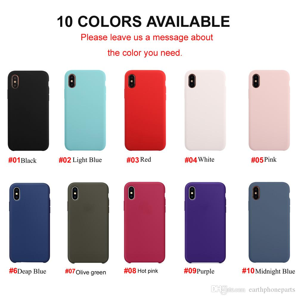 Silicone Case For iPhone X 10 8 7 6S 6 Plus Soft Phone Cover With Retail Package