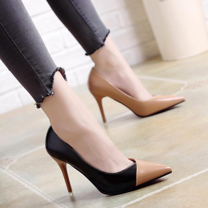 0dd3aef50c35 Women S Shoes Spring And Autumn New Fashion Professional High Heels Shallow  Mouth Pointed Shoes Sexy Temperament Thin Shoes Silver Heels Dress Shoes  From ...