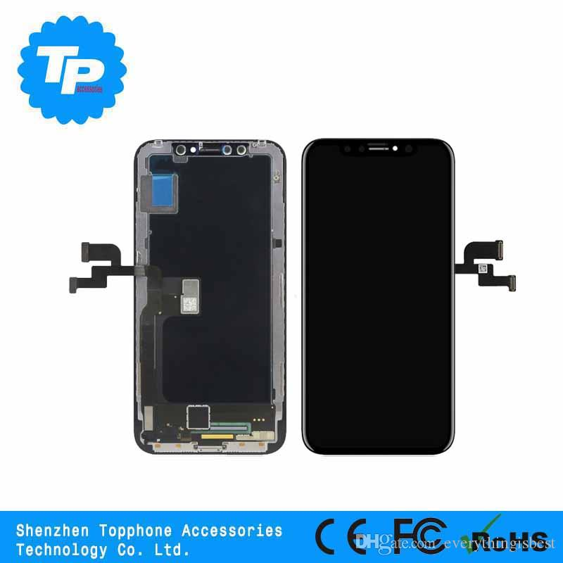reputable site c0f14 b249f Full LCD Replacement For Apple iPhone X LCD Display With Touch Screen  Digitizer Glass Assembly Parts Black