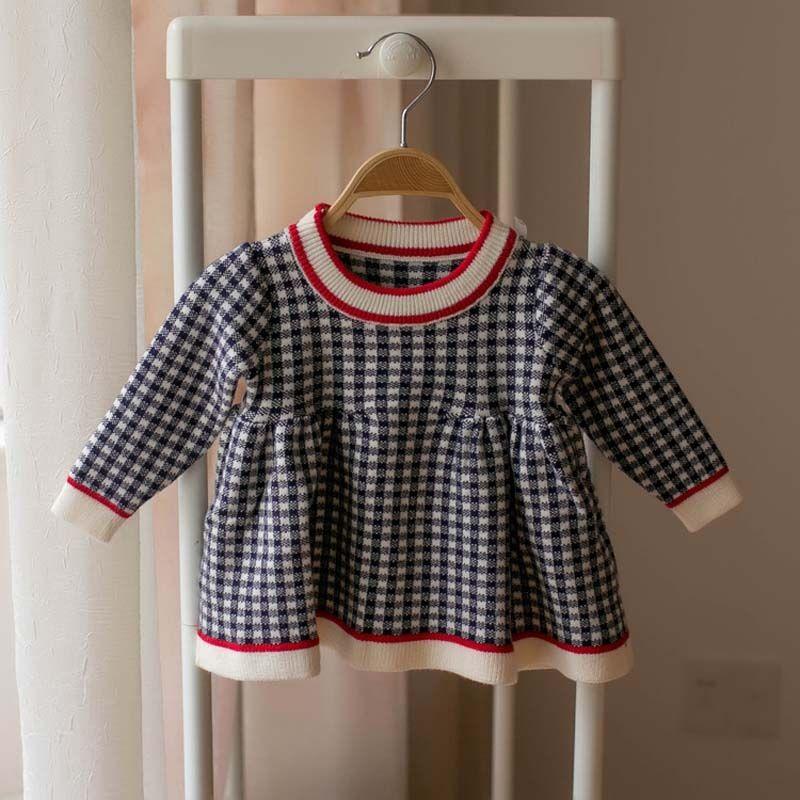 Autumn Winter New Fashion Girls Sweaters Infant Sweaters Knitting