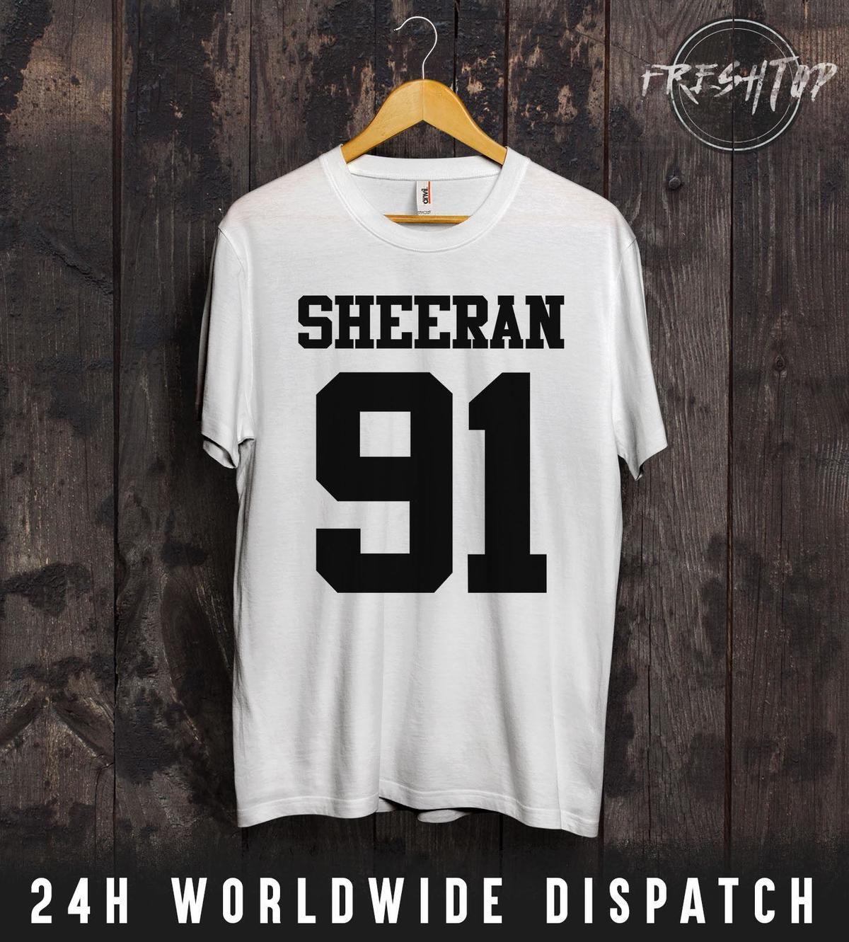 ee32323bb3 Compre Ed Sheeran 91 Camiseta Tumblr OOTD X + ÷ Presente Aniversário  Concerto Festival Música De Lefan05