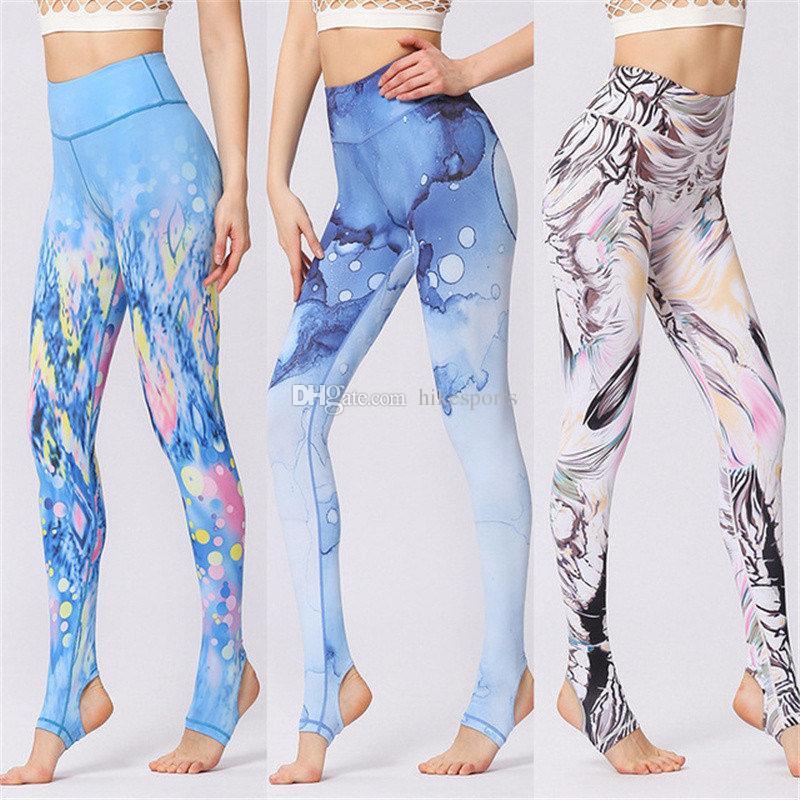 7ba68fc11d1e15 2019 Fashion Digital Print Foot Pants High Waist Tights Womens Yoga Stirrup  Pants Super Elastic Fitness Leggings Running Dance Stirrup Trousers From ...