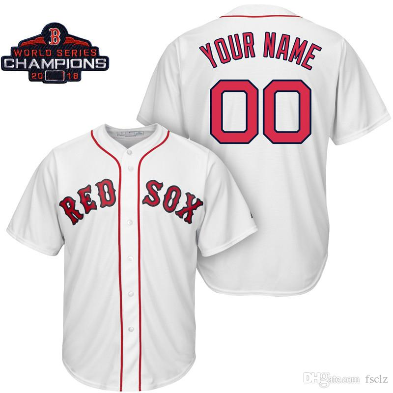 2019 Mens Boston Red Sox 2018 World Series Champions Redsox Xander Bogaerts Christian  Vazquez Ted Williams Brock Holt Custom Made Baseball Jersey From Fsclz ... 81c6adbe2f7