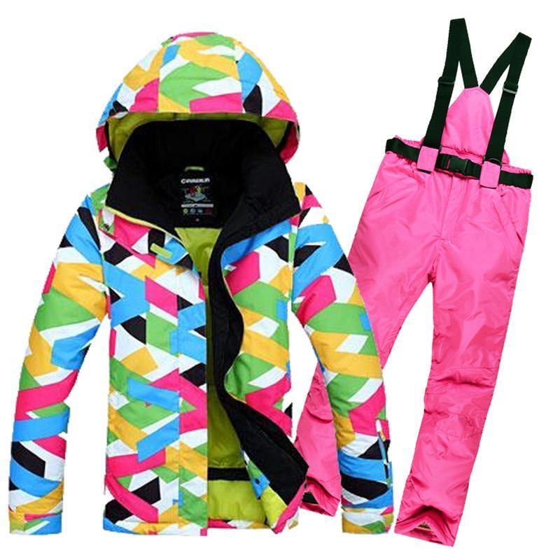 e7128758ca50 Good Quality Women s Ski Jacket + Pant Ski Suit For Women Outdoor ...