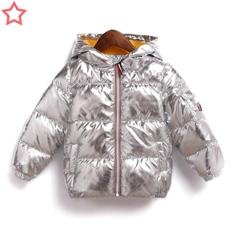 cdaf98489172a Winter Kids Clothes Jacket Boys/Girls Hooded Cotton Padded Baby Clothes  Down Coat Winter Baby Thicken Warm Outwear Snow Parka Winter Coats For  Teenage Guys ...