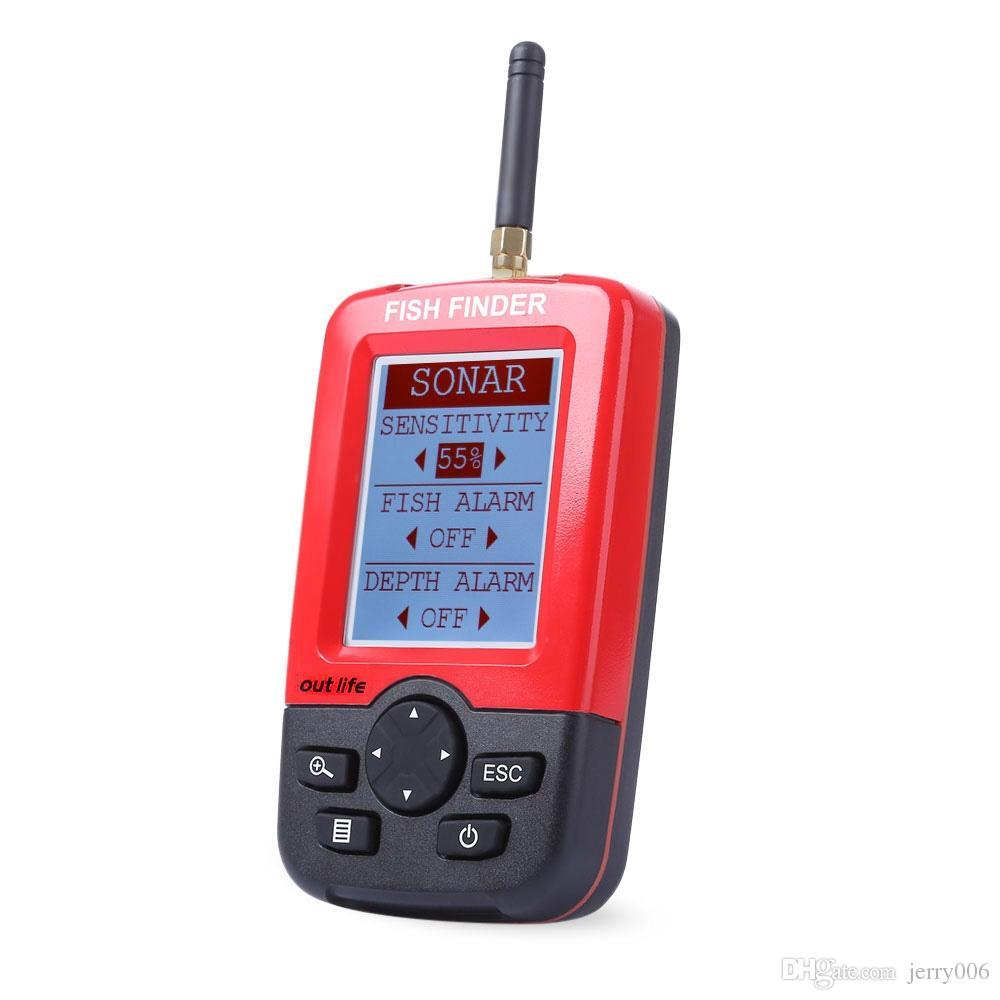 Smart Portable Depth Fish Finder with 100 M Wireless Sonar Sensor ...