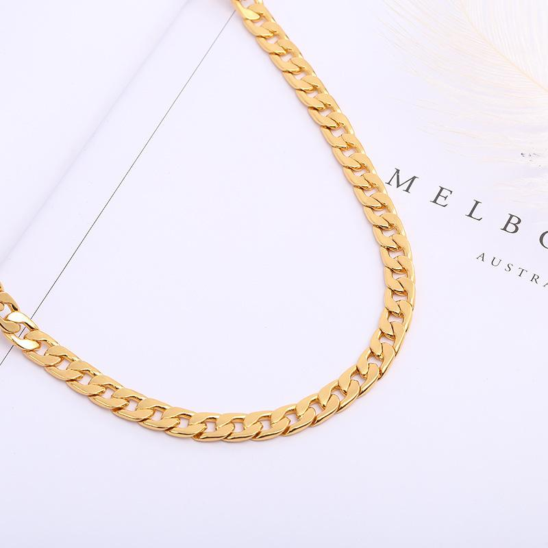 2019 Fashion New 6mm Luxury Mens Womens Jewelry 18k Gold Plated Chain  Necklace For Men Chains Necklaces Gifts Wholesales Accessories Hip Hop From  ... dc79447c5