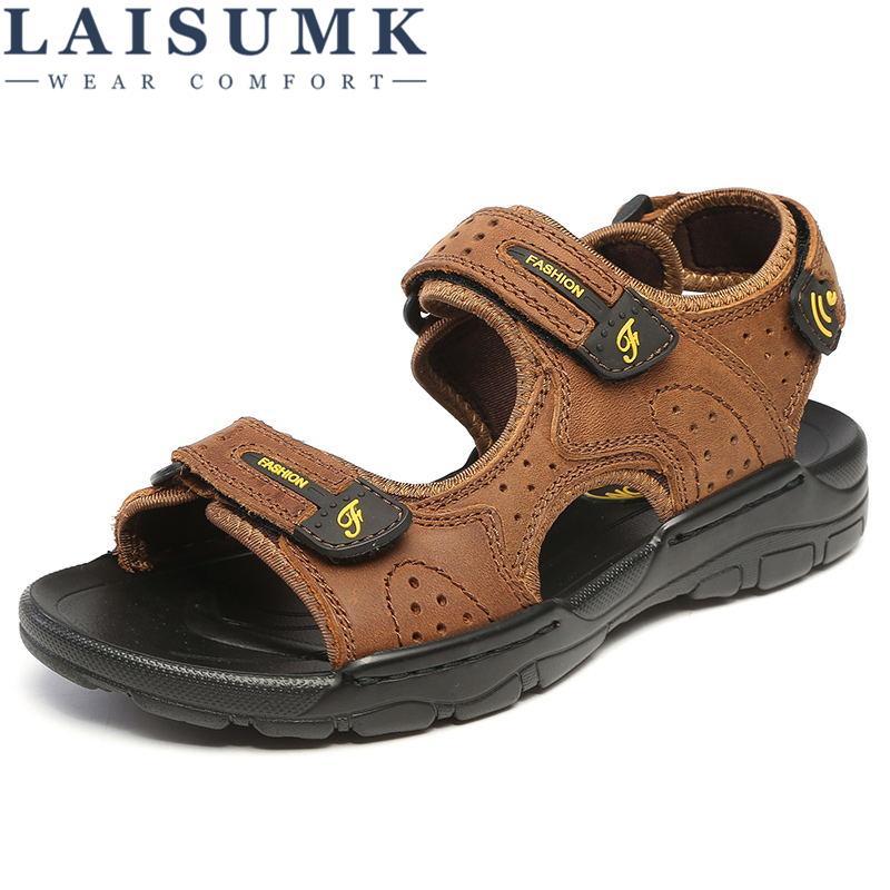 9f703fb4d27b LAISUMK Hot Sale New Fashion Summer Leisure Beach Men Shoes High ...
