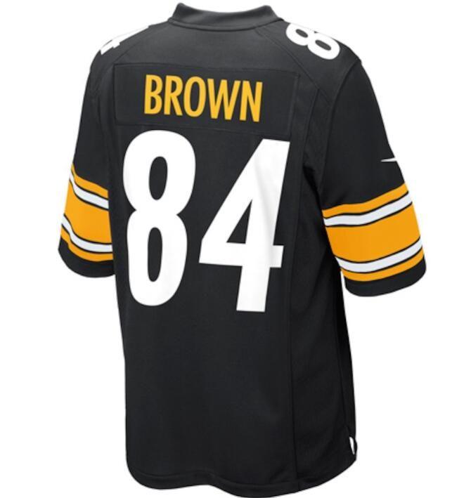 newest cb5f0 194c1 84 Antonio Brown Jersey Alejandro Villanueva Pittsburgh Steelers custom  soccer rugby retro american football jerseys cheap wholesale deals