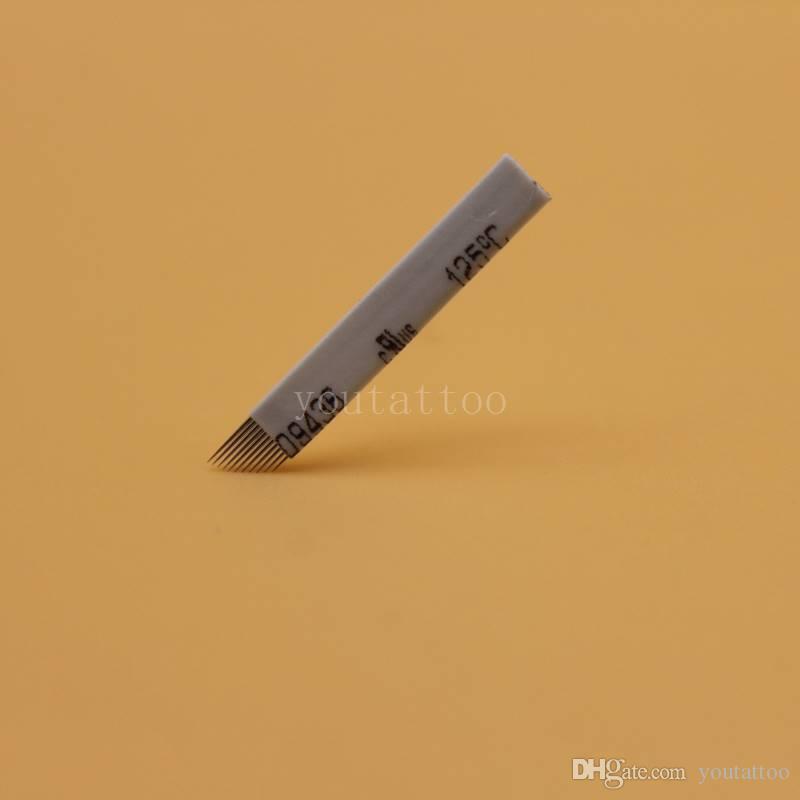Wholesale White 11 Pin Microneedling Supplies Manual Eyebrow Tattoo