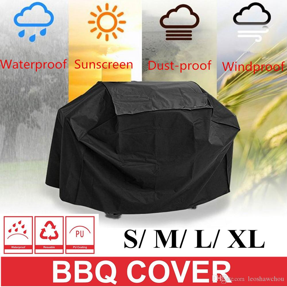 2018 S/ M/ L/ Xl Bbq Grill Cover Outdoor Waterproof Barbecue Covers Durable  Dust Proof Windproof Polyester Material Garden Patio Grill Protector From  ...