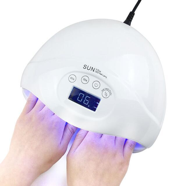 48W Nail Dryer Dual UV LED Nail Lamp Gel Polish Curing Light with Bottom 30s/60s Timer LCD display lamp for nails nail dryer