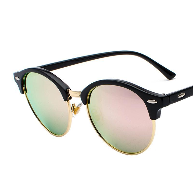 6ca5e0012f69 2018 New Oversized Retro Round Sunglasses Women Brand Designer Vintage Sun  Glasses Female Eyewear Steampunk Mirror Oculos De Sol Sunglasses For Women  Cat ...