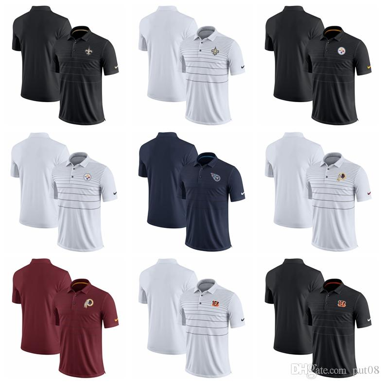 668f414a1 2019 2018 Men New Orleans Saints Pittsburgh Steelers Polo Shirt Titans  Washington Redskins Cincinnati Bengals Early Season Polo Shirt From Put08