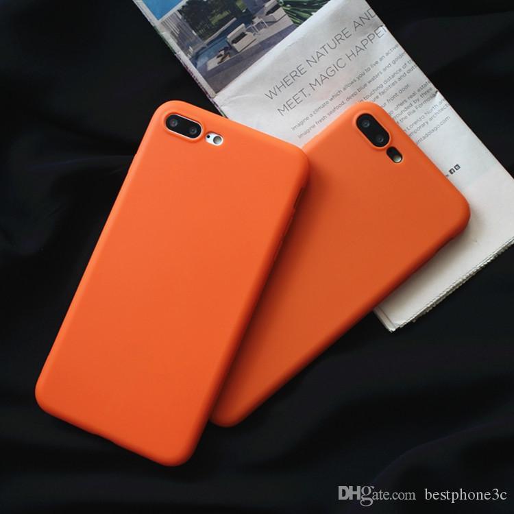8e72f9c59f5 Comprar Fundas Para Moviles Yellow Candy Tpu Phone Case Para Iphone 7 6 Case  Purple Solid Scrub Funda De Silicona Para IPhone 6 6s 8 Plus X Cubierta  Trasera ...