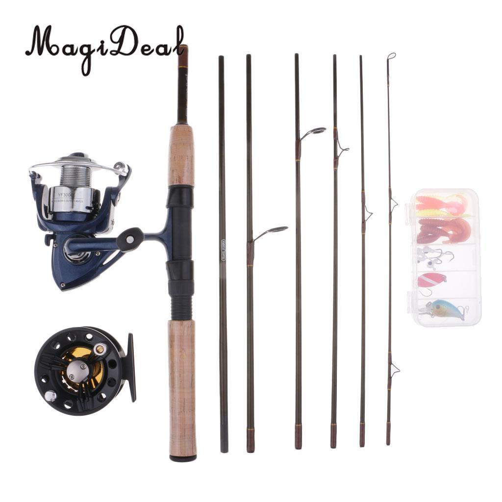 3631208cb Compre Vara De Pesca Com Carretel Spinning Combos 7 Peças Rod Viagem ...