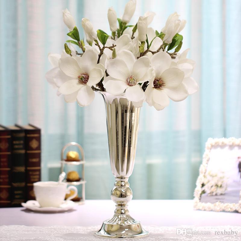 Silver table centerpiece wedding flower vase flower stand flower stand pillar wedding - Jarrones plateados ...