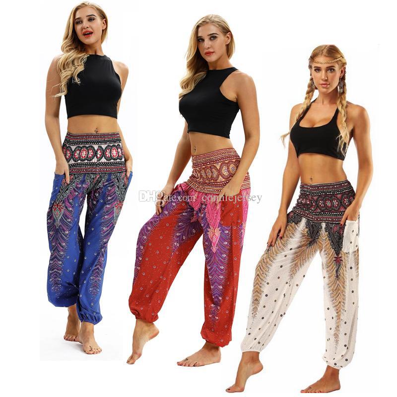 1862500e8c3e 2019 Yoga Legging Yoga Pant Tie Dye Grey Flower Printed High Waistband  Pocket Straight Loose Yoga Leggings Lounge Balance Workout Pants Bloomers  From ...