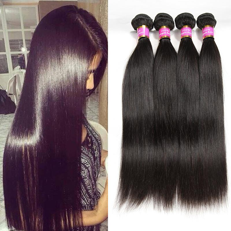 Indian Straight Hair 4 Bundle Deals Bestsojoy Raw Indian Straight