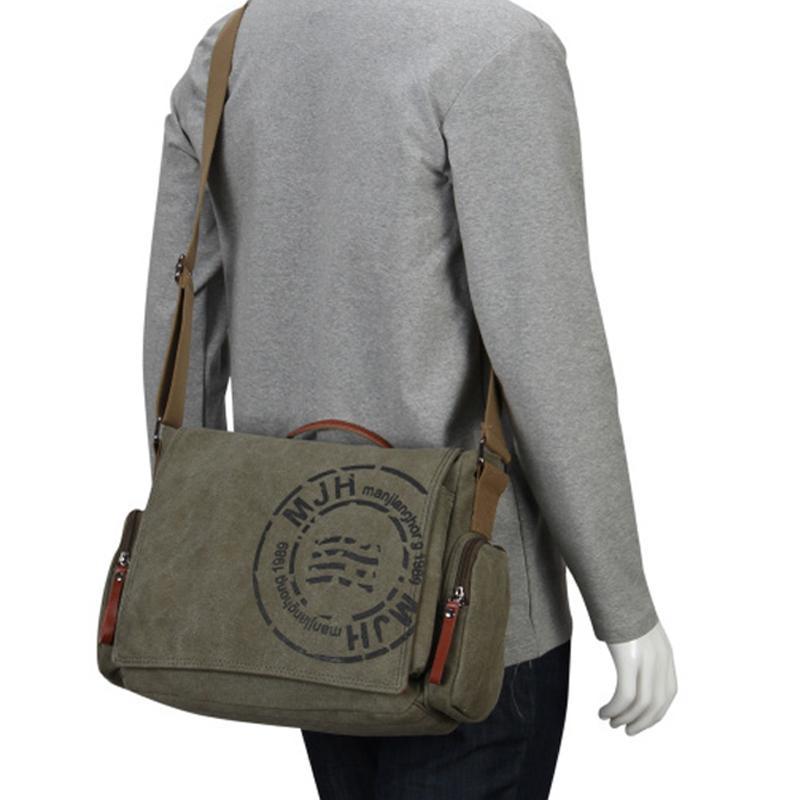 MANJIANGHONG старинные Мужские сумки посыльного холст сумка мода мужчины бизнес Crossbody сумка печать путешествия сумка 1124