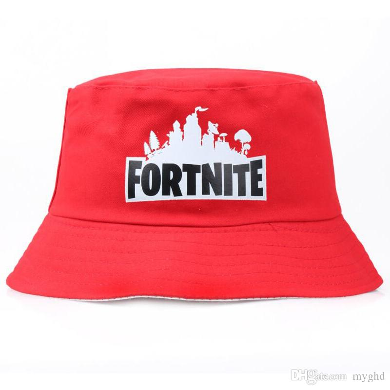 Fortnite Printed Caps Teenager Fisherman Hat Summer Bucket Hat ... 1bd1cce62ce