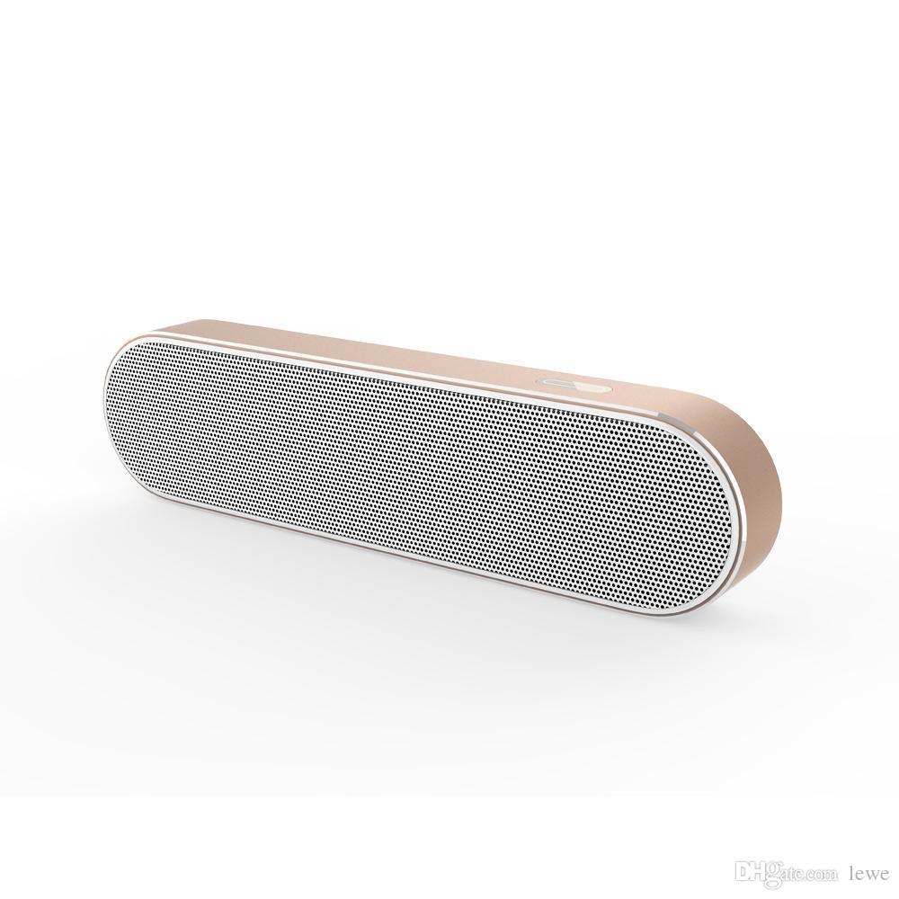 Wholesale wireless subwoofer bluetooth speakers portable Bluetooth speakers wireless dual speakers stereo speaker Aluminum bass small audio