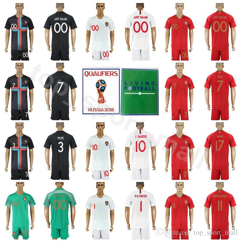 6d3ad1bf9 2019 World Cup Soccer Men Jersey Set 2 Bruno Alves 1 Rui Patricio 8 Joao  Moutinho PEPE Football Shirt Red Kits With Short Pant From Top sport mall