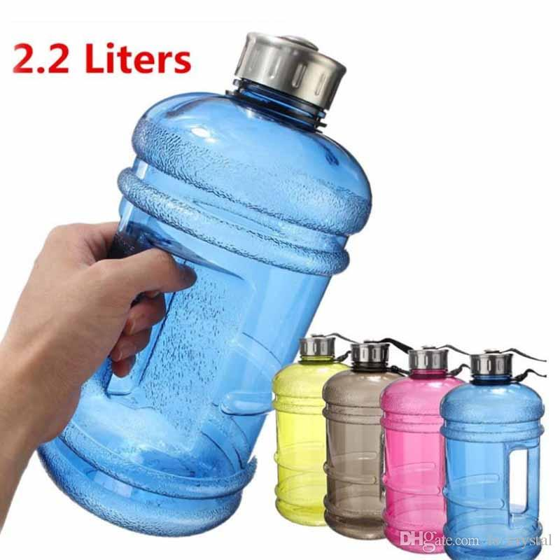 455f303dcb4 2.2L Large BPA Free Sport Gym Drink Water Bottle Cap Kettle Running  Training Camping Can Not Fill Hot Water DEC283 Plastic Bottles Water Plastic  Free Water ...
