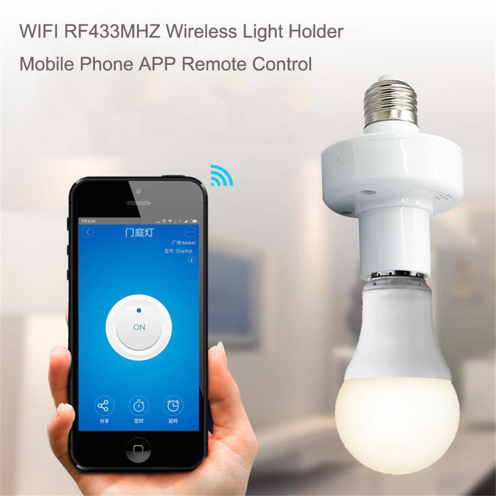 01d58fee795 Sonoff RF433MHz Wireless Control Light Holder E27 WiFi Light Lamp ...