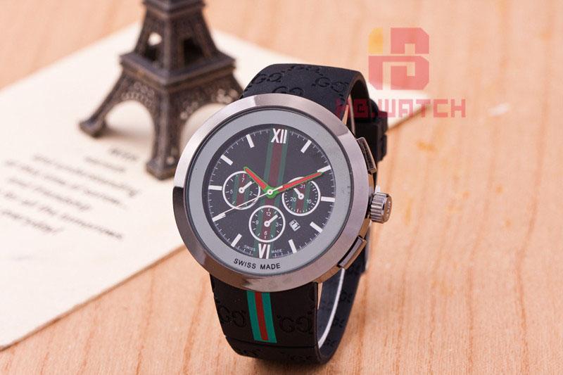 Modemarke Damen Herren Kautschukband Quarz-Armbanduhr GU15