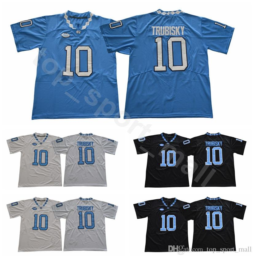 3a6cc355f40 2019 UNC College 10 Mitchell Trubisky Jersey Men University North Carolina  Tar Heels Football Jerseys Sale Team Black Away Blue White From  Top_sport_mall, ...