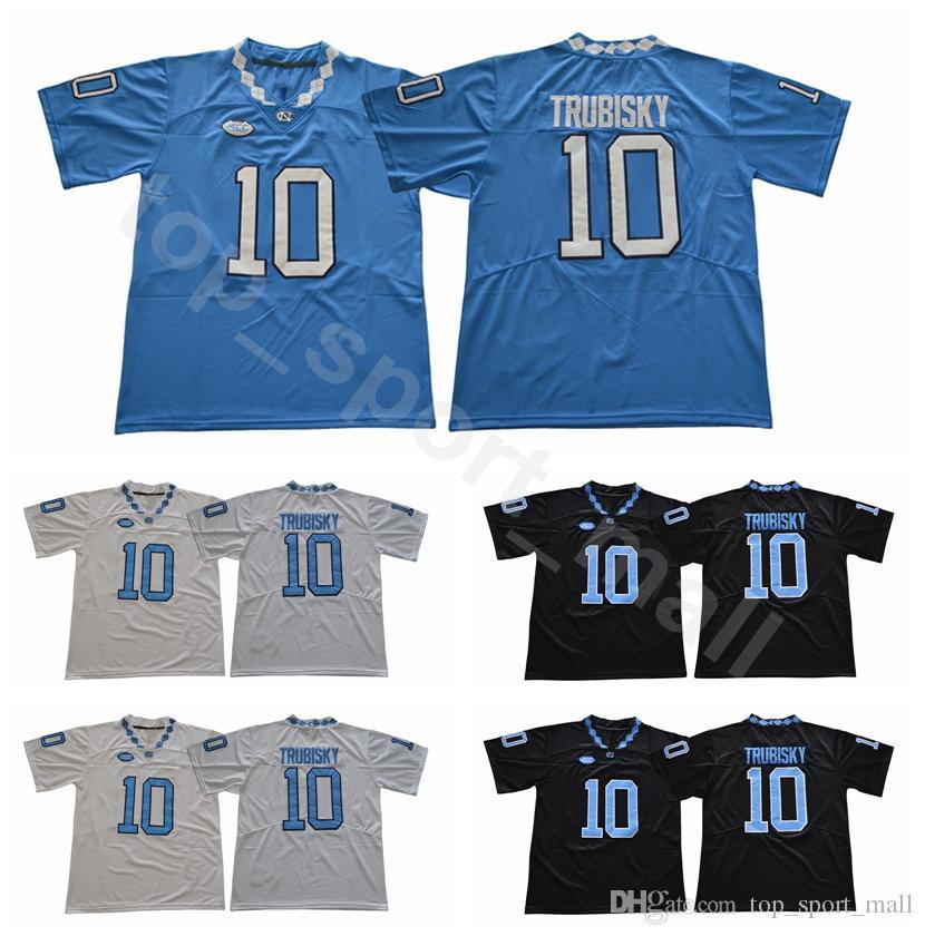 size 40 f64a2 6fac2 UNC College 10 Mitchell Trubisky Jersey Men University North Carolina Tar  Heels Football Jerseys Sale Team Black Away Blue White