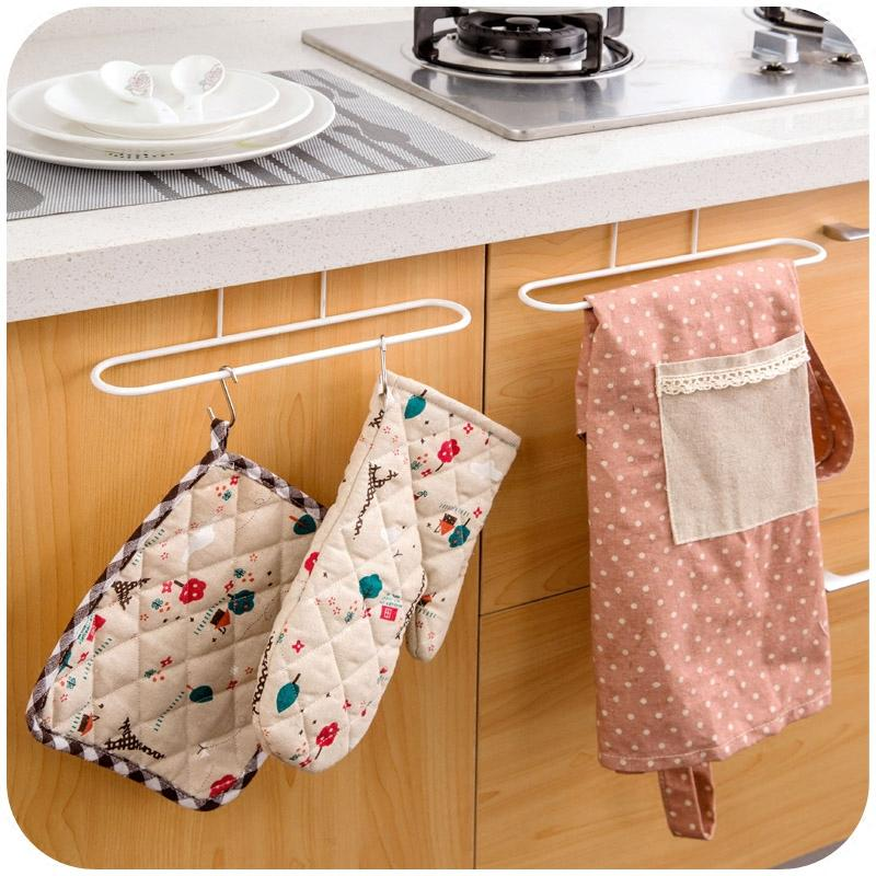 Bon 2019 New Cabinet Cupboard Over Door Hanging Towel Rack Holder Cloth Shelf Towel  Rail Bathroom Kitchen Accessories From Juhsl002, $7.03 | DHgate.Com