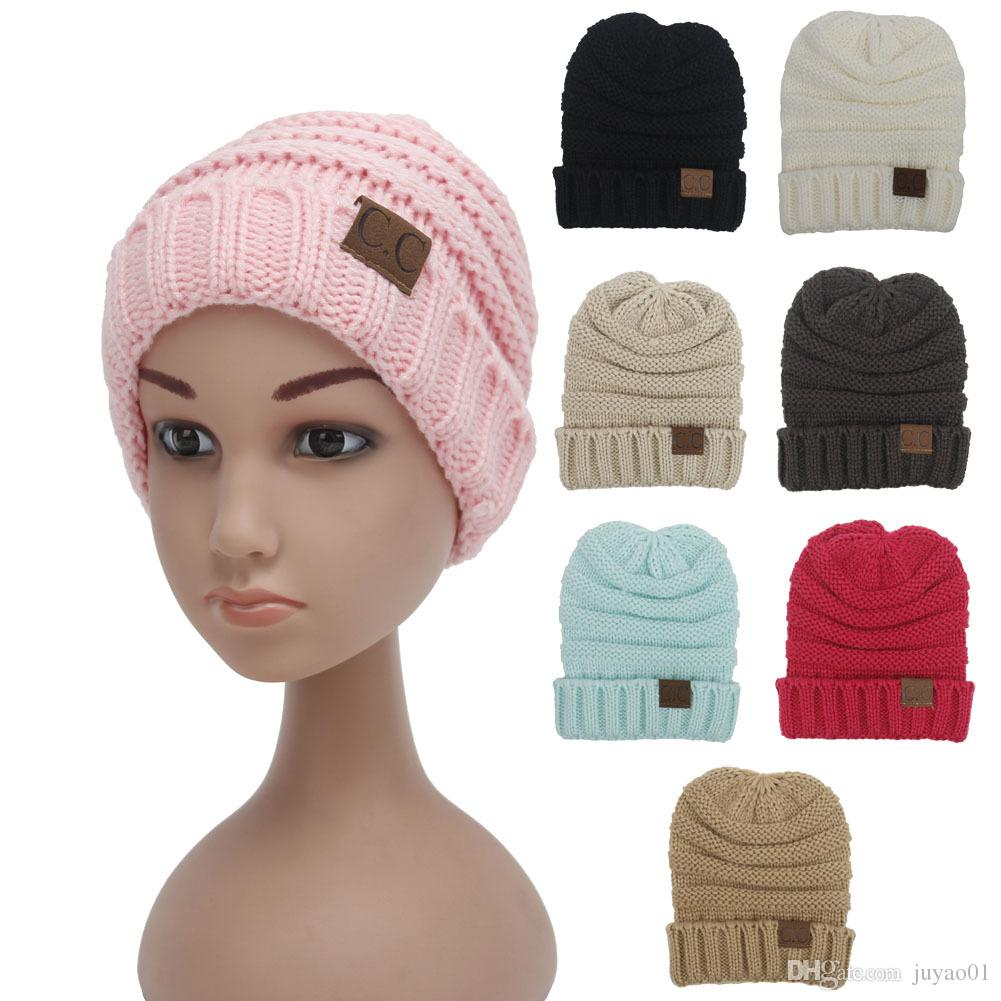 5b13fda28b6 Winter Beanie Kids Knit Beanies Slouchy Hats For Girls Cute Boys Knitted  Skullies Warm Hats Lovely Children Baggy Knit Caps Trucker Hats Winter Hats  From ...