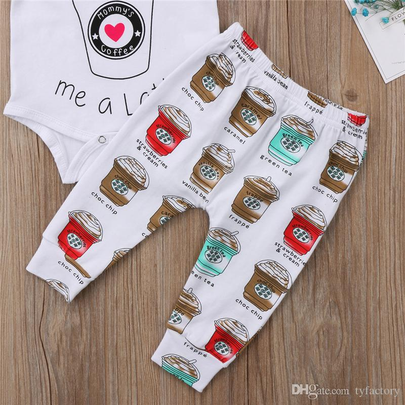 Cute Newborn Baby Boy Girl Toddler Ice-cream Romper Top Long Pants Leggings Headband Outfit Toddler Boys Girls Clothes Kid Clothing set