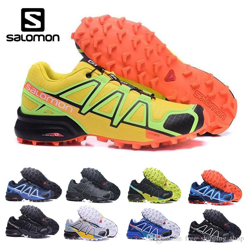616cd7d3a579 New Arrivel Salomon 2018 Men Black Blue Speed Cross 4 CS Cross Country  Outdoor Fencing Shoes Good Quality Men Shoes Size Eur 40 46 Best Running  Shoe Neutral ...