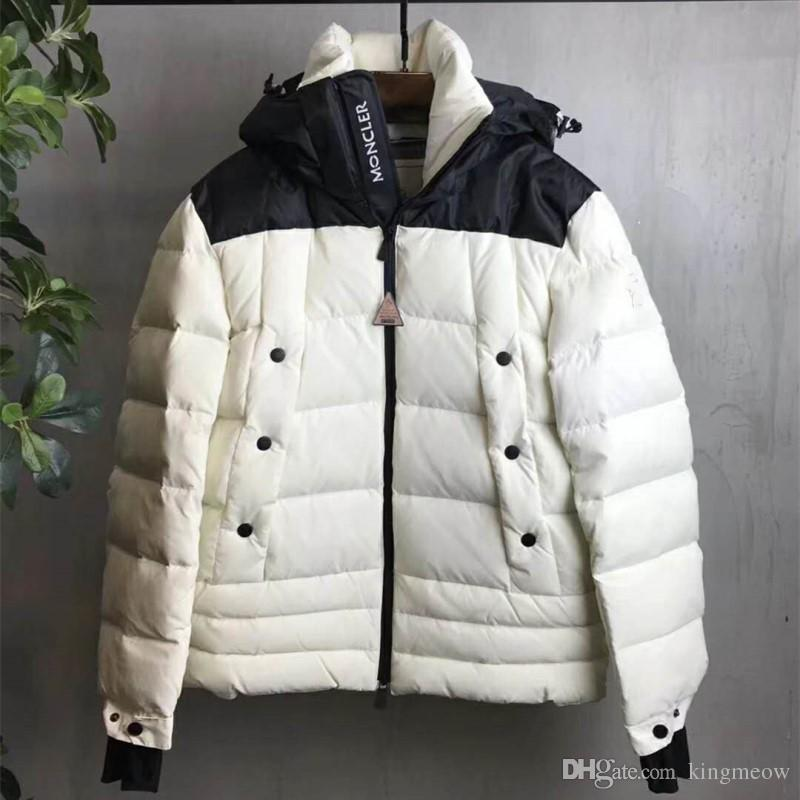 ed56324b074 2017 Winter Ski Down Jacket Black Blue White Colors Men Feather ...