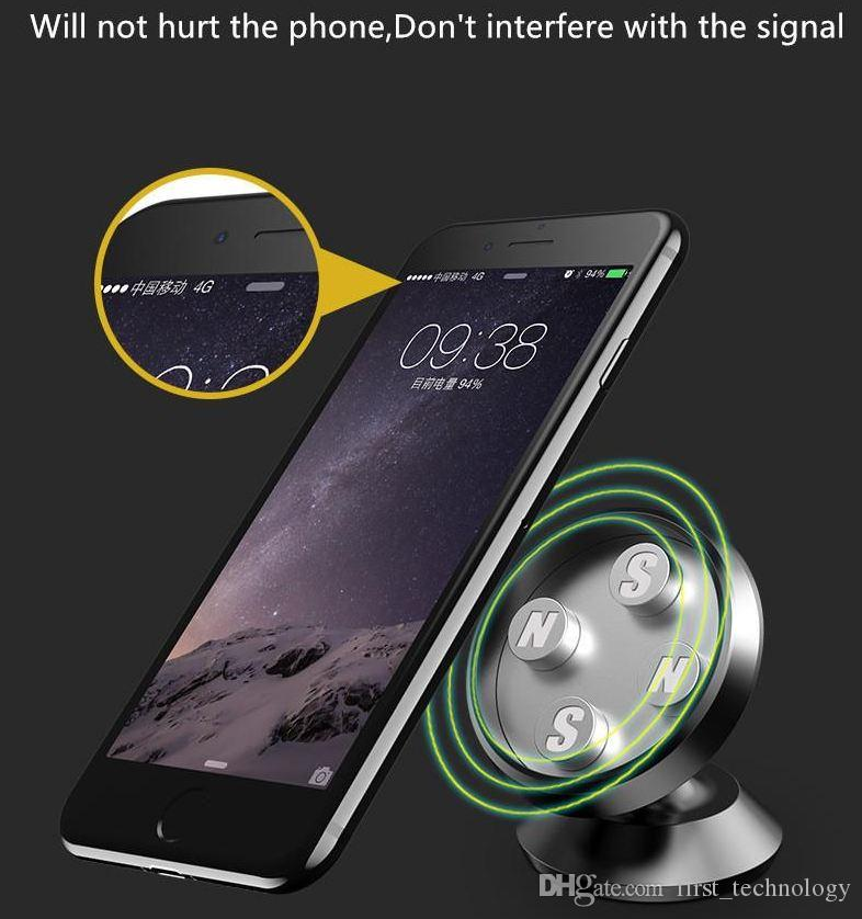 New Magnetic Air Vent Mount Car Holder Aluminium Alloy Phone Stand For Iphone X 8 7 Samsung Universal