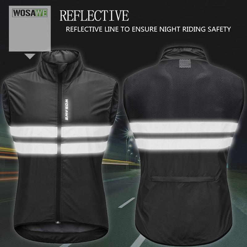 Running Cycling Vest Windproof Reflective Outdoor Sports Wind Coat