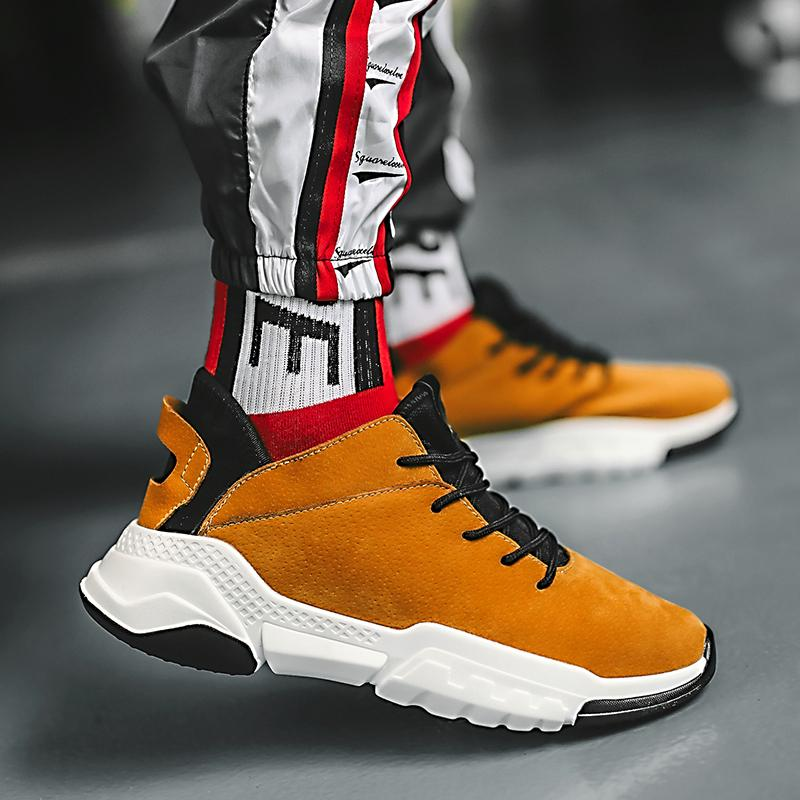 ba300e211b6b6 Compre ECTIC Cómodo Tobillo Corto Botas Para Hombre Zapatillas De Deporte  Hombres Botas 2018 De Alta Calidad De Moda Hombre De Gamuza Grueso Inferior  Nieve ...