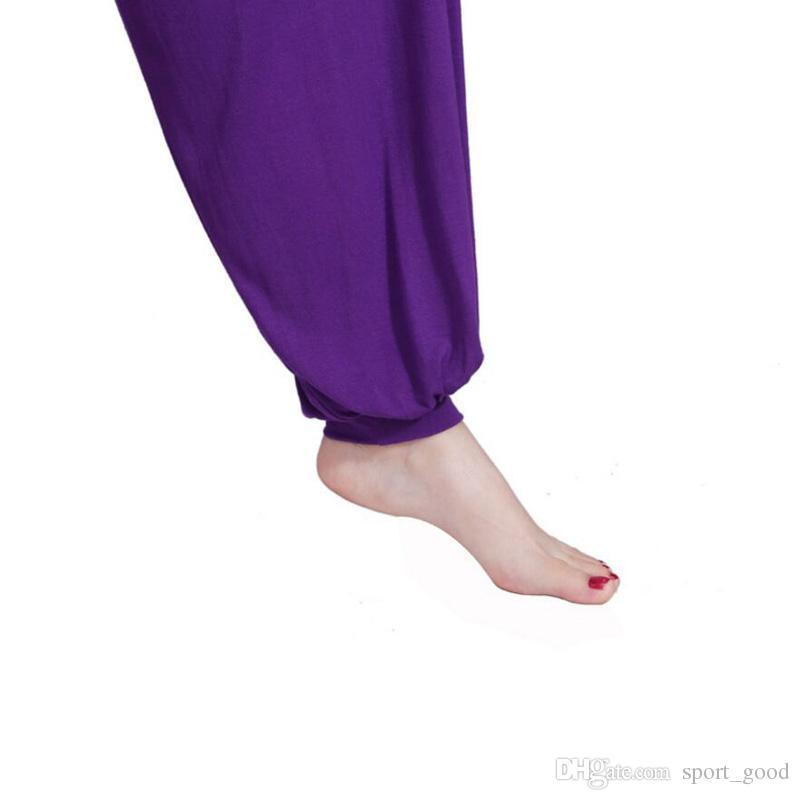 Novas Mulheres Senhora Harem Yoga Algodão Calças Soltas Confortáveis Calças Compridas Dança Do Ventre Calças Largas Yoga Outfits Bloomers para Venda