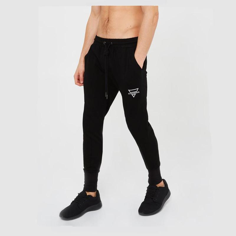 Compre 2018 Fitness Joggers Hombres Pantalones De Correr De Secado Rápido Hombres  Pantalones De Deporte De Culturismo Algodón Sport Jogging Pants Lápiz ... a3df8ffe62a2